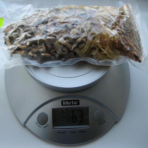 набор сушёных овощей и грибов для приготовления грибного супа